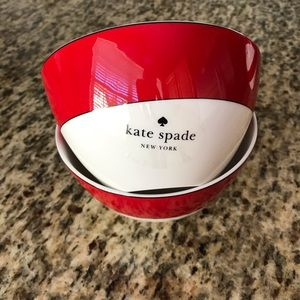 Kate Spade Rutherford Circle Red Bowls ~ Set of 2